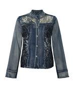 Evanna Embellished Denim Jacket, Denim, original image number 0