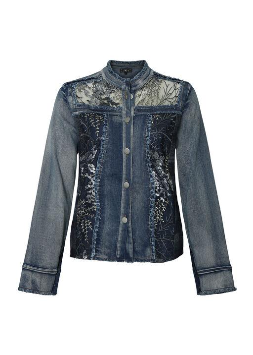 Evanna Embellished Denim Jacket, , original