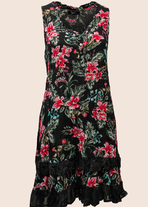Stargazer Lilies Dress, Black, original