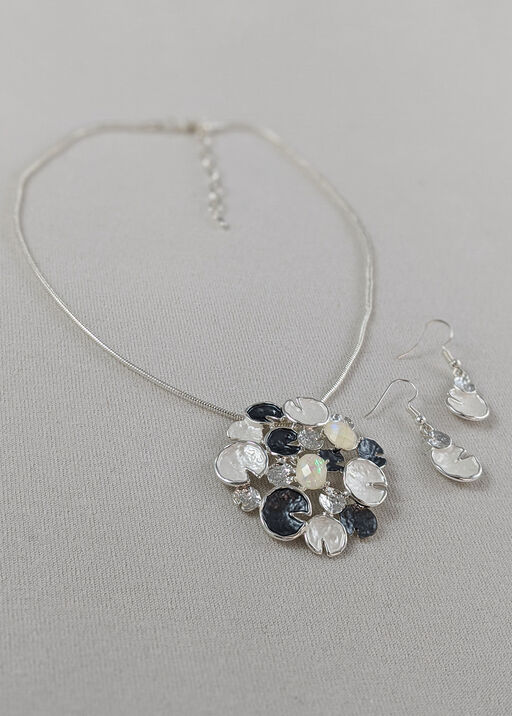 Lily Pads Necklace and Earrings Set, , original