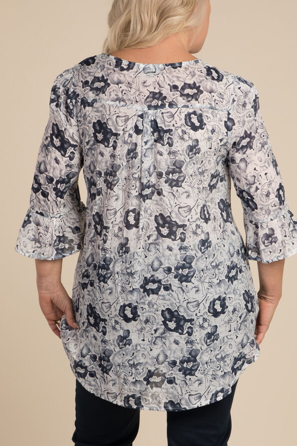 Garden Party Blouse, White, original image number 1