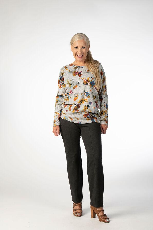 Floral Waterpaint Sweatshirt, Grey, original image number 0