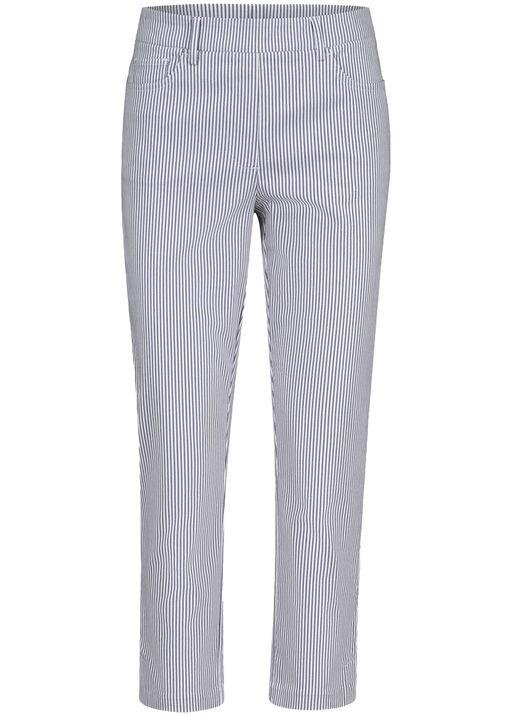 Metallic Pin Stripe Cropped Pant, Ink, original