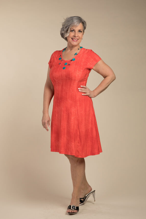 Adeline Shift Dress, Coral, original image number 0