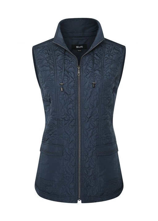 Quilted Heart Vest with Studded Pockets, , original