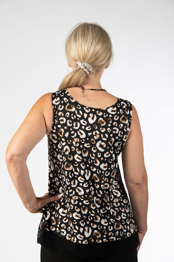 Leopard Lace Top, Black, original image number 2