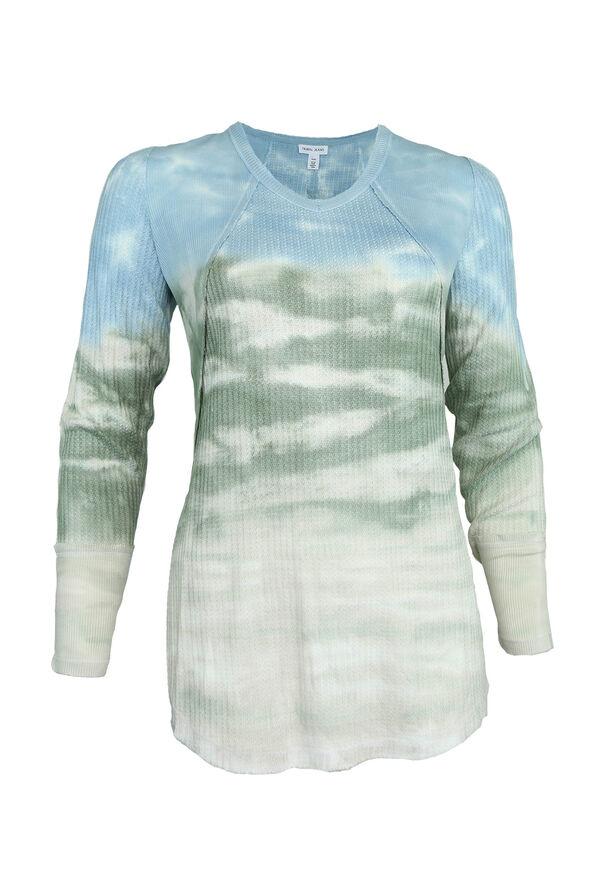 Terra Tie-Dye Waffle Shirt, Blue, original image number 0
