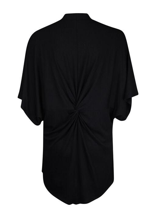 Knot back Kimono, Black, original