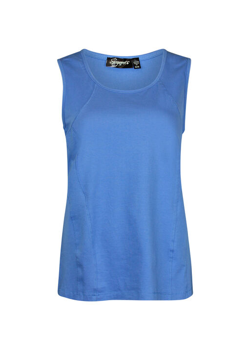 Stretch Cotton Tank Top, , original