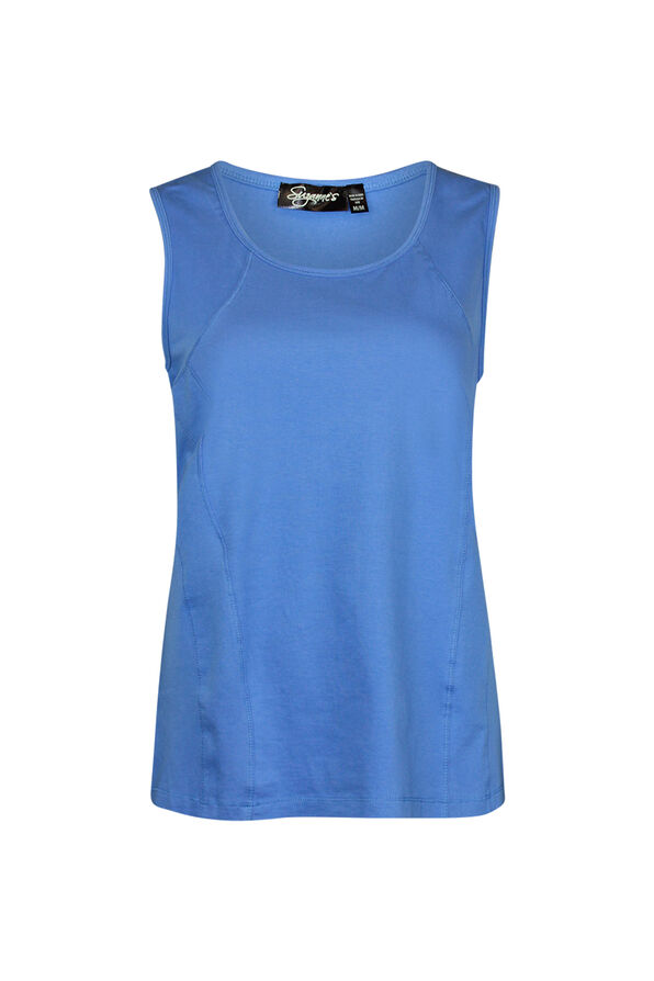 Stretch Cotton Tank Top, , original image number 1