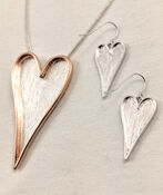 Heart necklace and Earrings, Gold, original image number 1