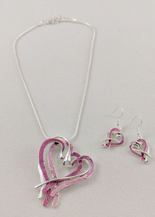 Intertwined Hearts Necklace and Earrings Set, , original
