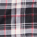 Cowl Neck Dolman Sleeve Plaid, Black, swatch