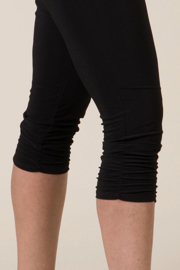Ruched Leg Capri, Black, original image number 1