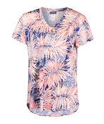 V-Neck Printed Active T-Shirt Hi-Lo Hem, , original image number 0