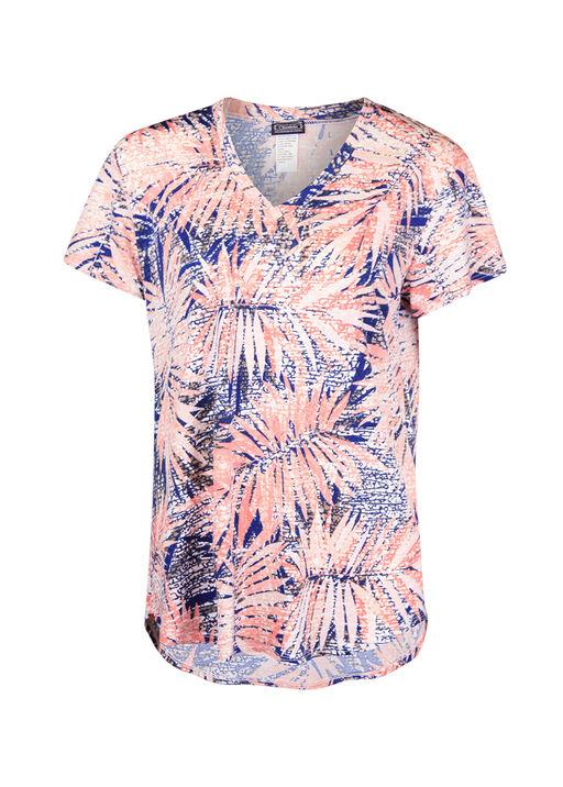 V-Neck Printed Active T-Shirt Hi-Lo Hem, , original
