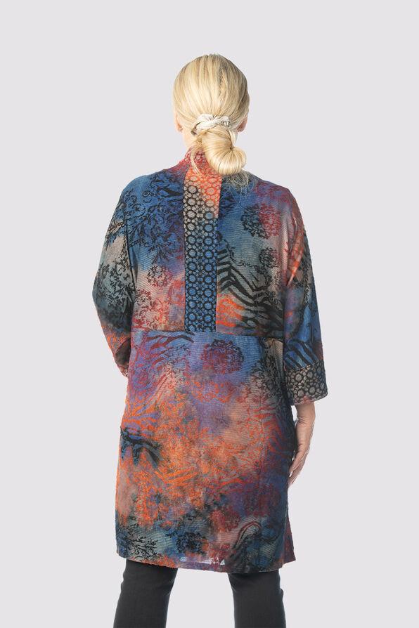 Vintage Velvet Kimono Cardi, Multi, original image number 1