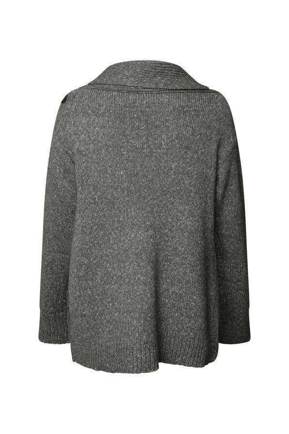 Buckle Wrap Sweater, Grey, original image number 1