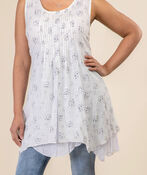 Layered Sleeveless Tunic, Cream, original image number 0