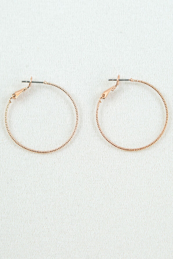 Diamond Cut Hoops, , original image number 2