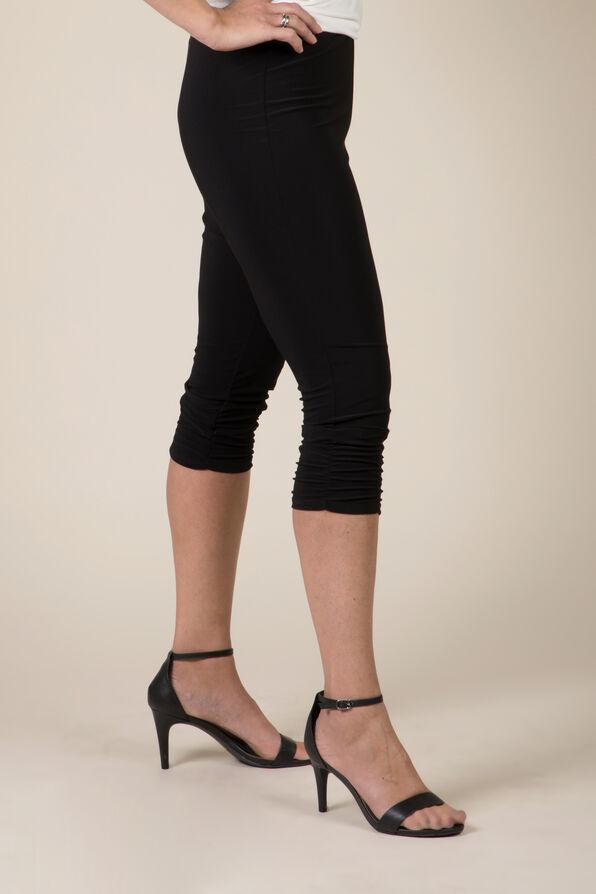 Ruched Leg Capri, Black, original image number 0
