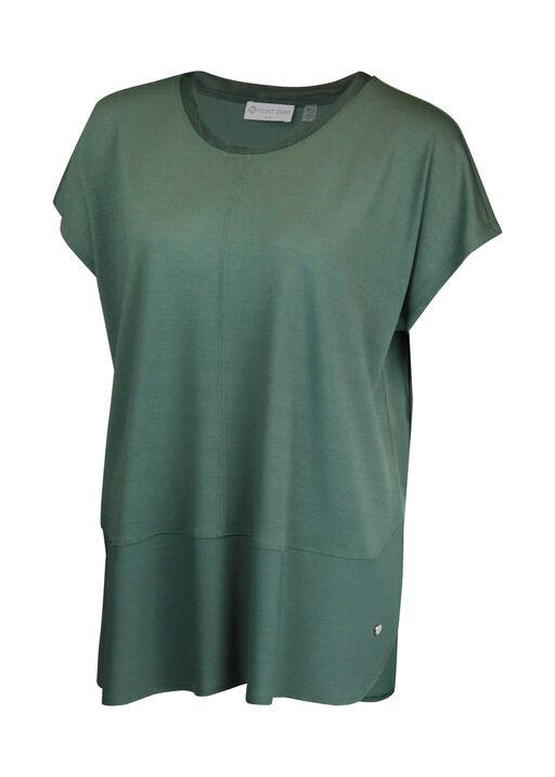Crew Neck Cap Sleeve T-Shirt, Sage, original