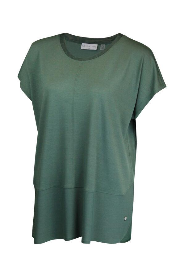 Crew Neck Cap Sleeve T-Shirt, , original image number 2