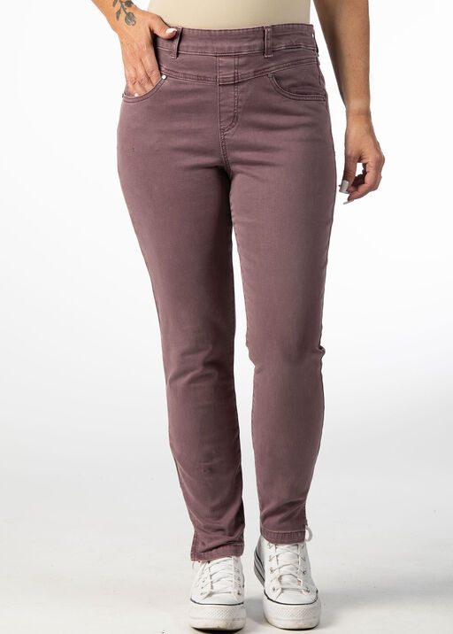 PULL ON PANT WITH FRONT YOKE DETAIL, Rust, original