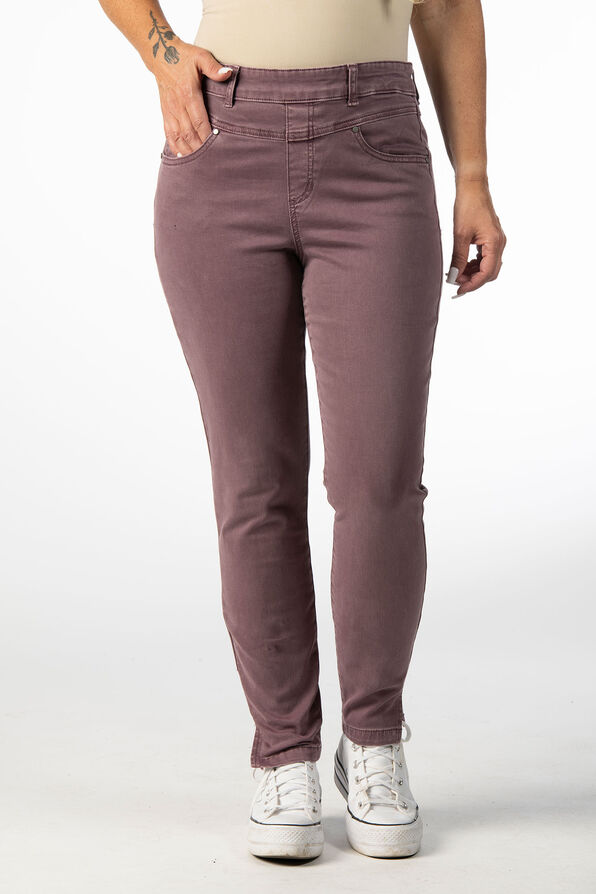 PULL ON PANT WITH FRONT YOKE DETAIL, Rust, original image number 1