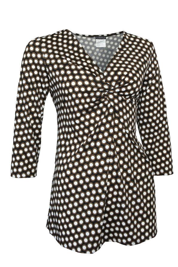 Miranda 3/4 Sleeve Top, Black, original image number 0