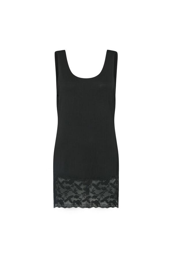Lace Hem Cami, Black, original image number 0