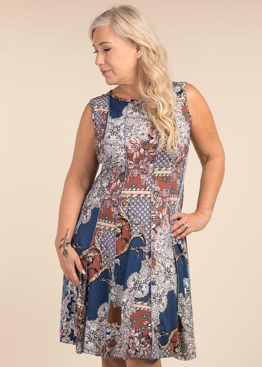 Victorian Print Dress, Pink, original
