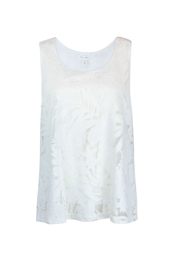 Tropical Burnout Sleeveless Top, , original image number 1