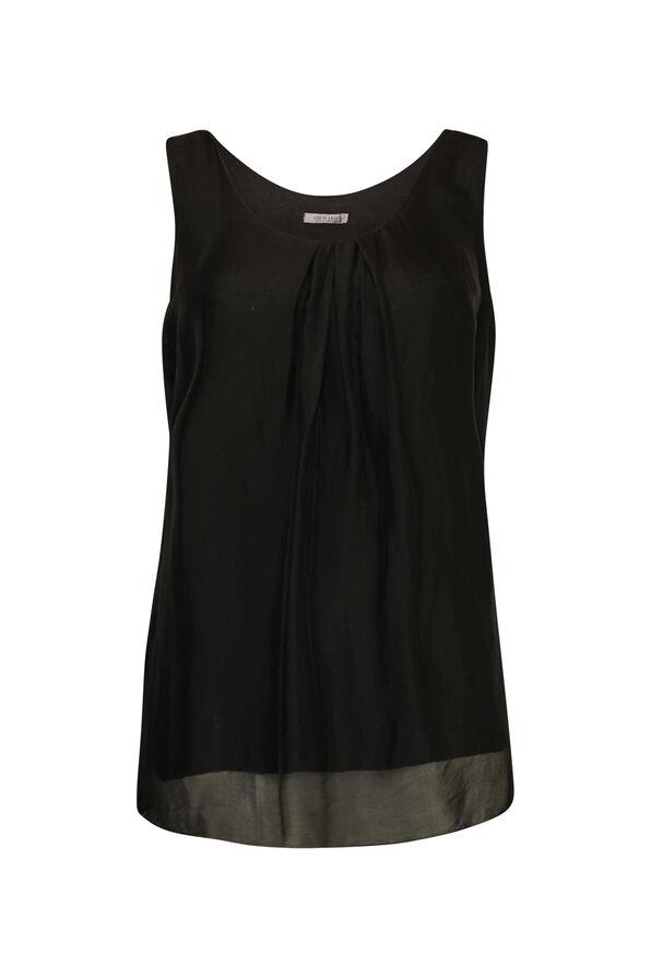 Sleeveless Silk Top , , original image number 0