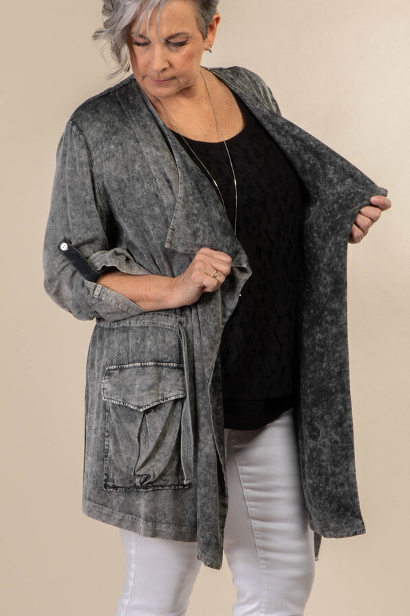 Donna Jacket, Grey, original image number 2