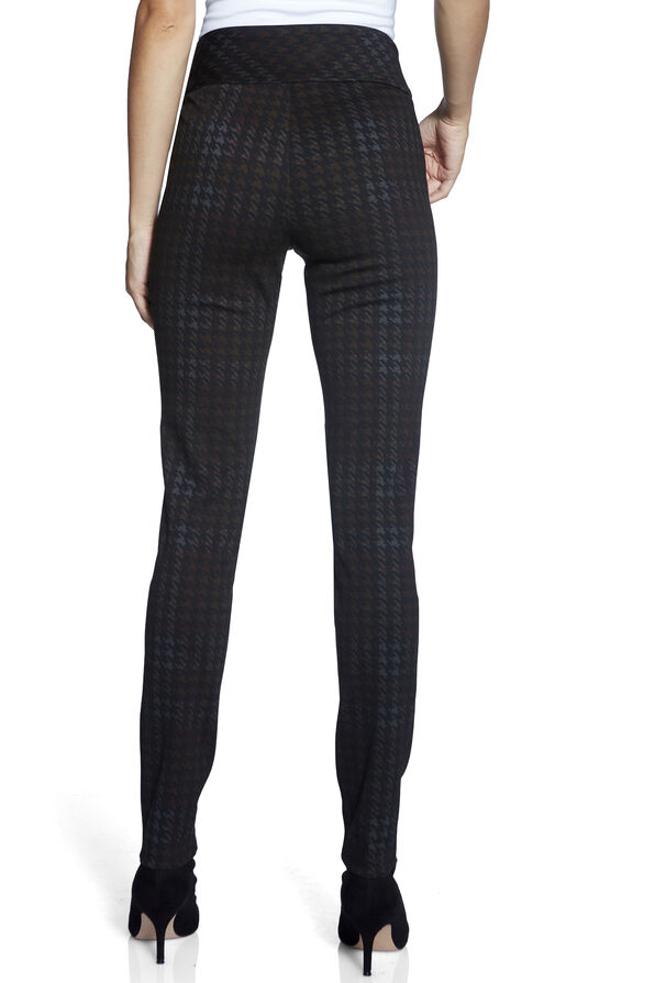 UP Ponte Plaid Pants, Black, original image number 3