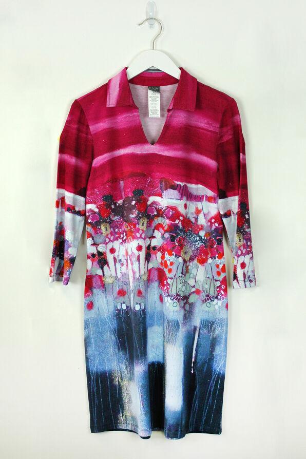 Moonlit Sail Dress, Magenta, original image number 0