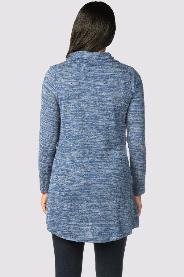 Biretta Cowl Top, Blue, original image number 1