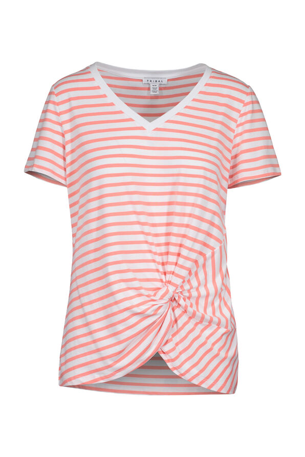 Knotted Striped Tee, , original image number 1