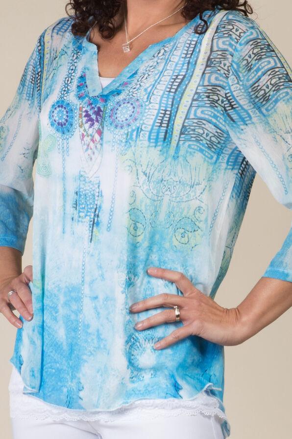 Cassia Blouse, Turquoise, original image number 1