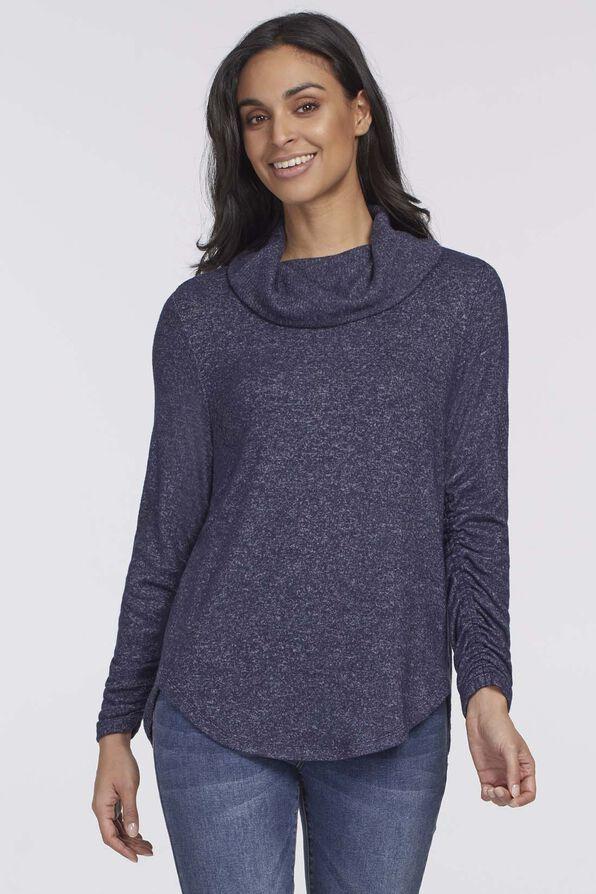 Véronique Cowl Sweater, Navy, original image number 0