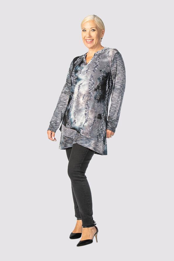 Tie-Dye Tiffany Top, Grey, original image number 0