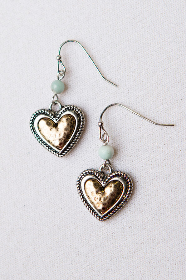 Heart Bead Earrings, Multi, original image number 0