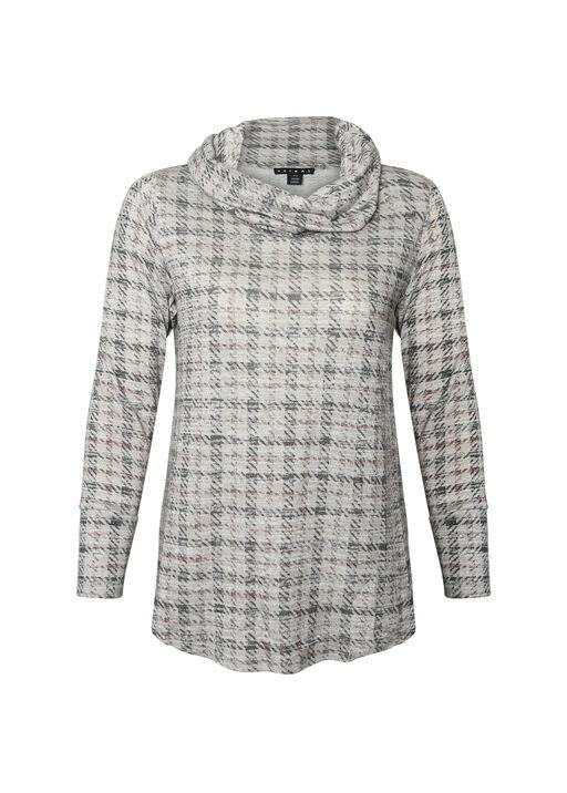 Soft Houndstooth Plaid Sweater , , original