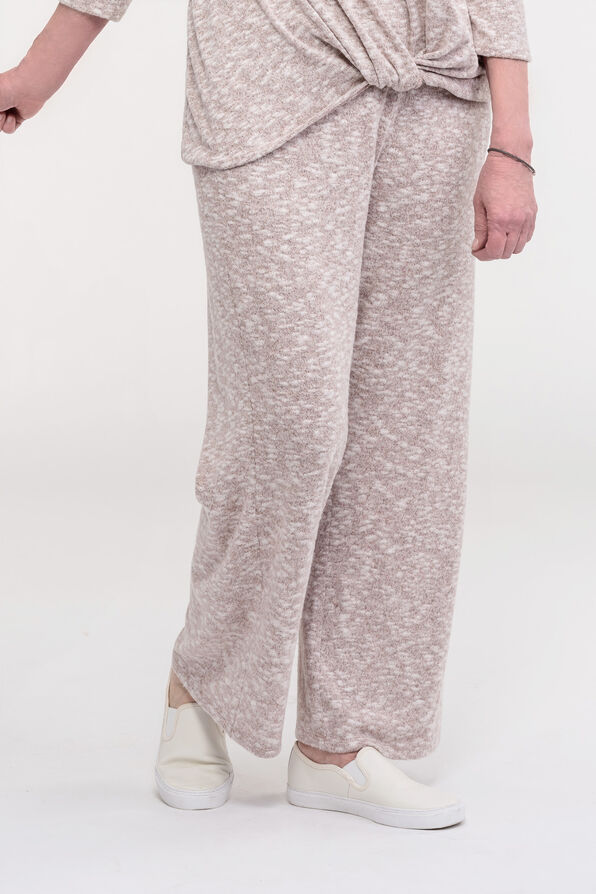 Cozy Wide Leg Lounge Pant, Purple, original image number 0