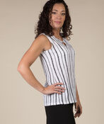 Michelle Sleeveless Top, White, original image number 1