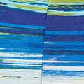 Brushed Stripe Sleeveless Top, Aqua, swatch