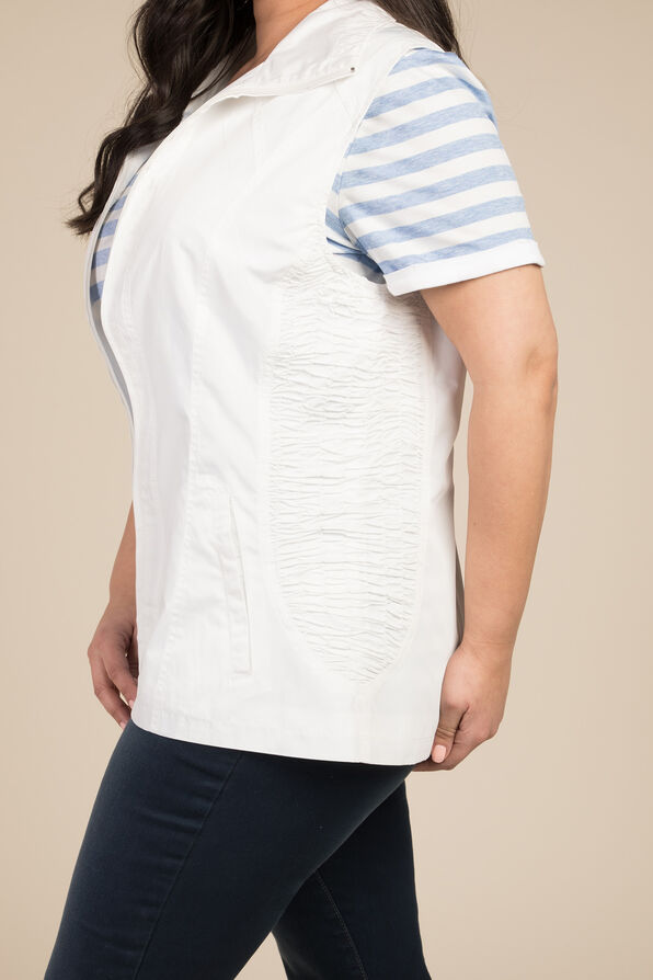 Zip Front Vest, White, original image number 2