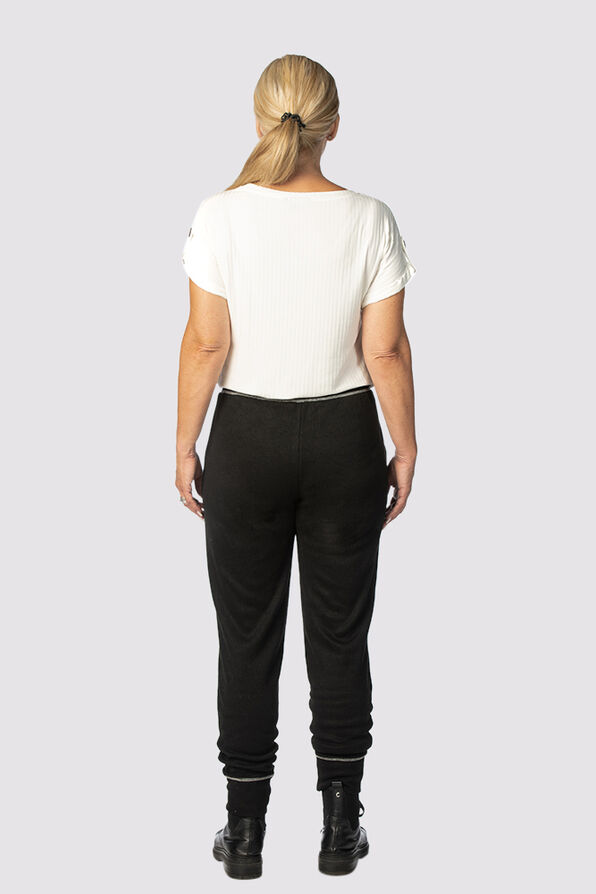 Relaxed Ankle Joggers, Black, original image number 2