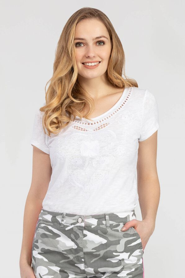 Embroidered Style Top, , original image number 0